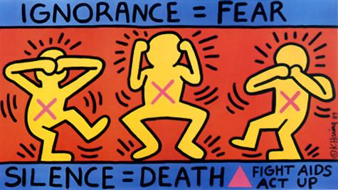 Silence = Death  by Keith Haring.