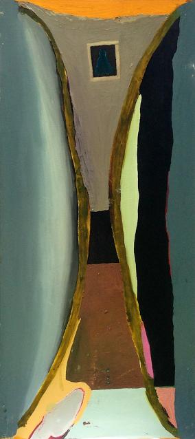 Kamo my dear , 36'' x 76'', oil on wood.