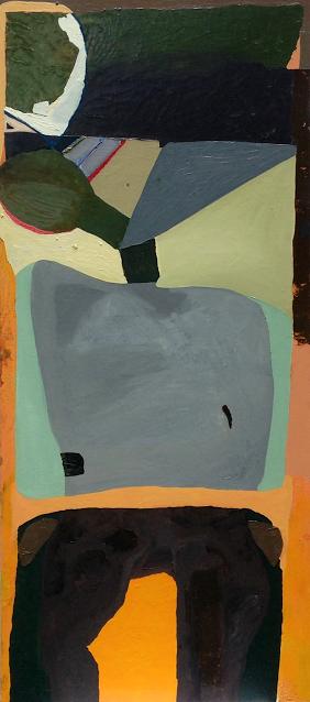 Idle, Mezmer, Immorta, Pagent , 36'' x 76'', oil on wood.