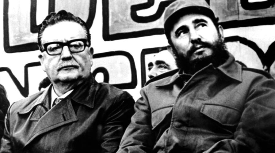 Fidel Castro with Chilean President Salvador Allende