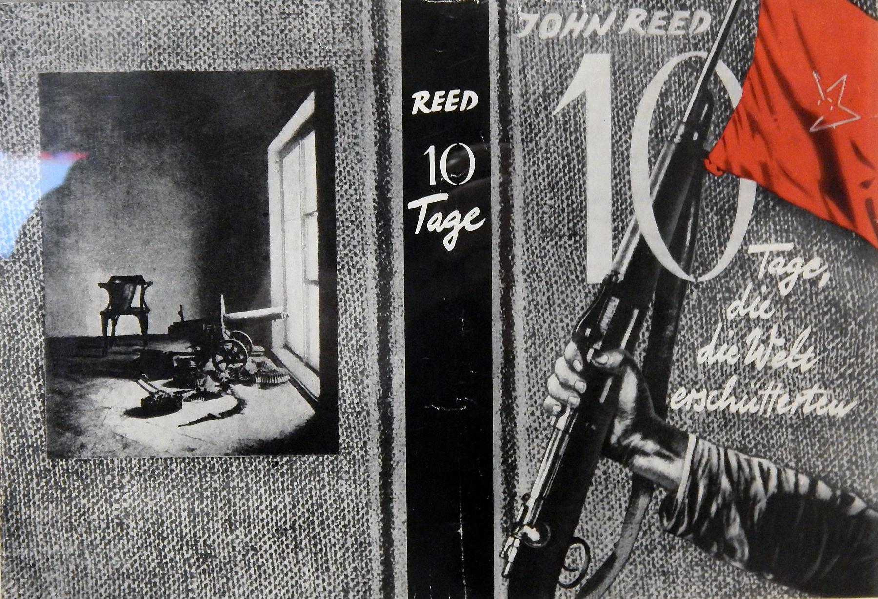 John Heartfelt, Cover art for John Reed's  Ten DaysThat Shook the World  (Germany,1927)