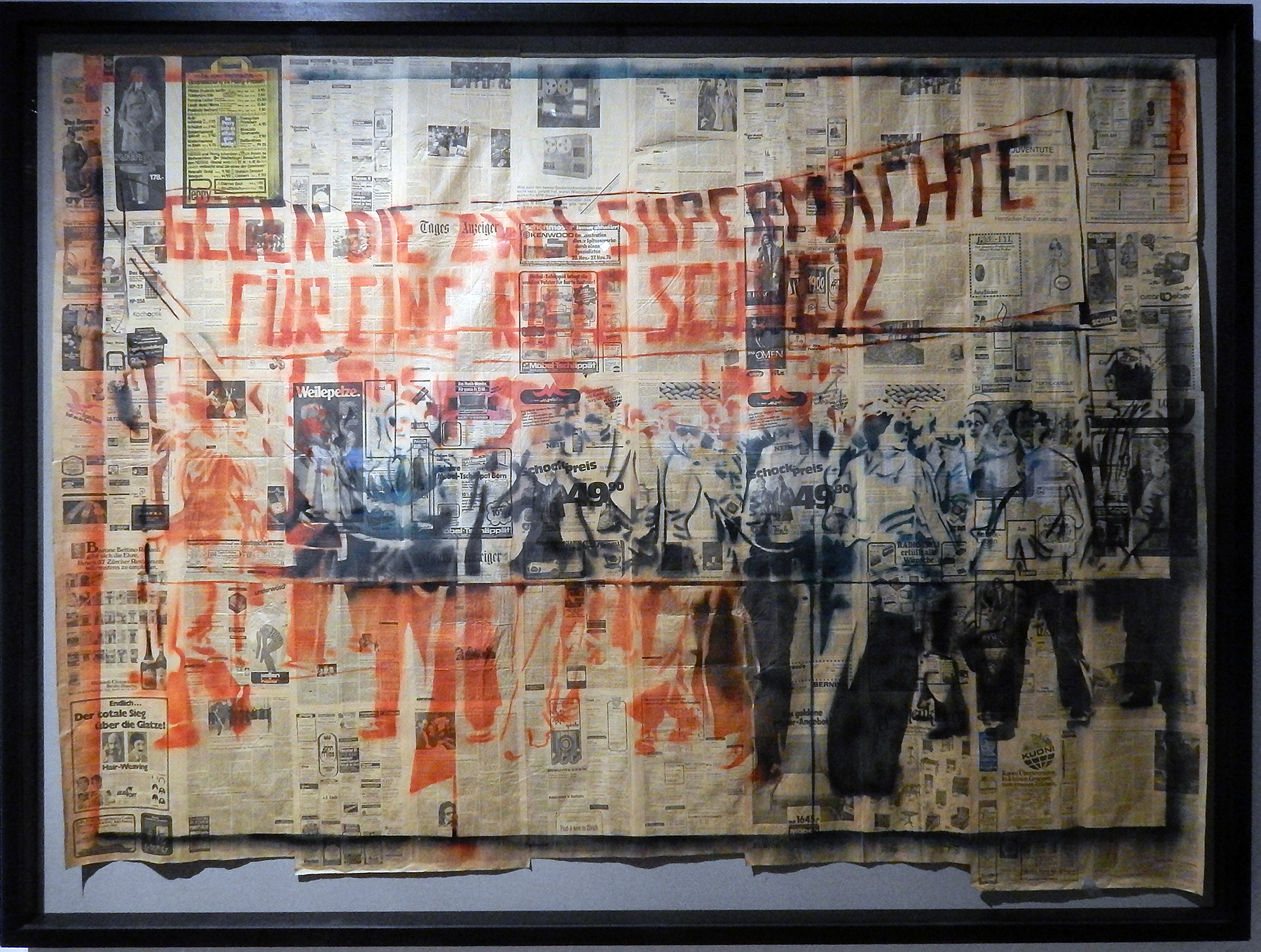 Sigmar Polke,  Against the Two Superpowers: For a Red Switzerland  (1971)