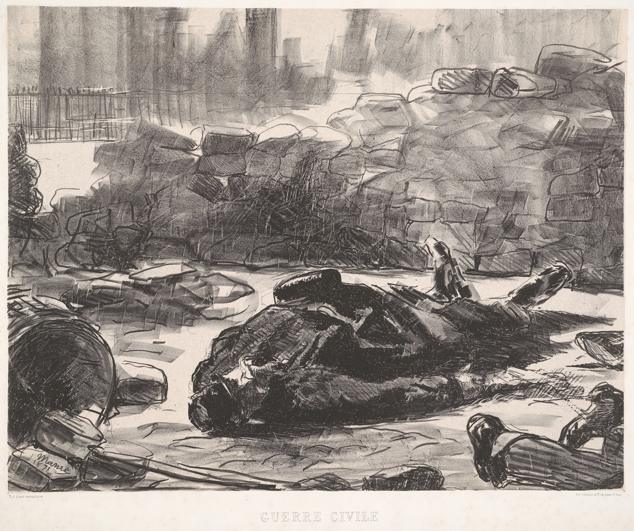 Edouard Manet,  Civil War  (1871)