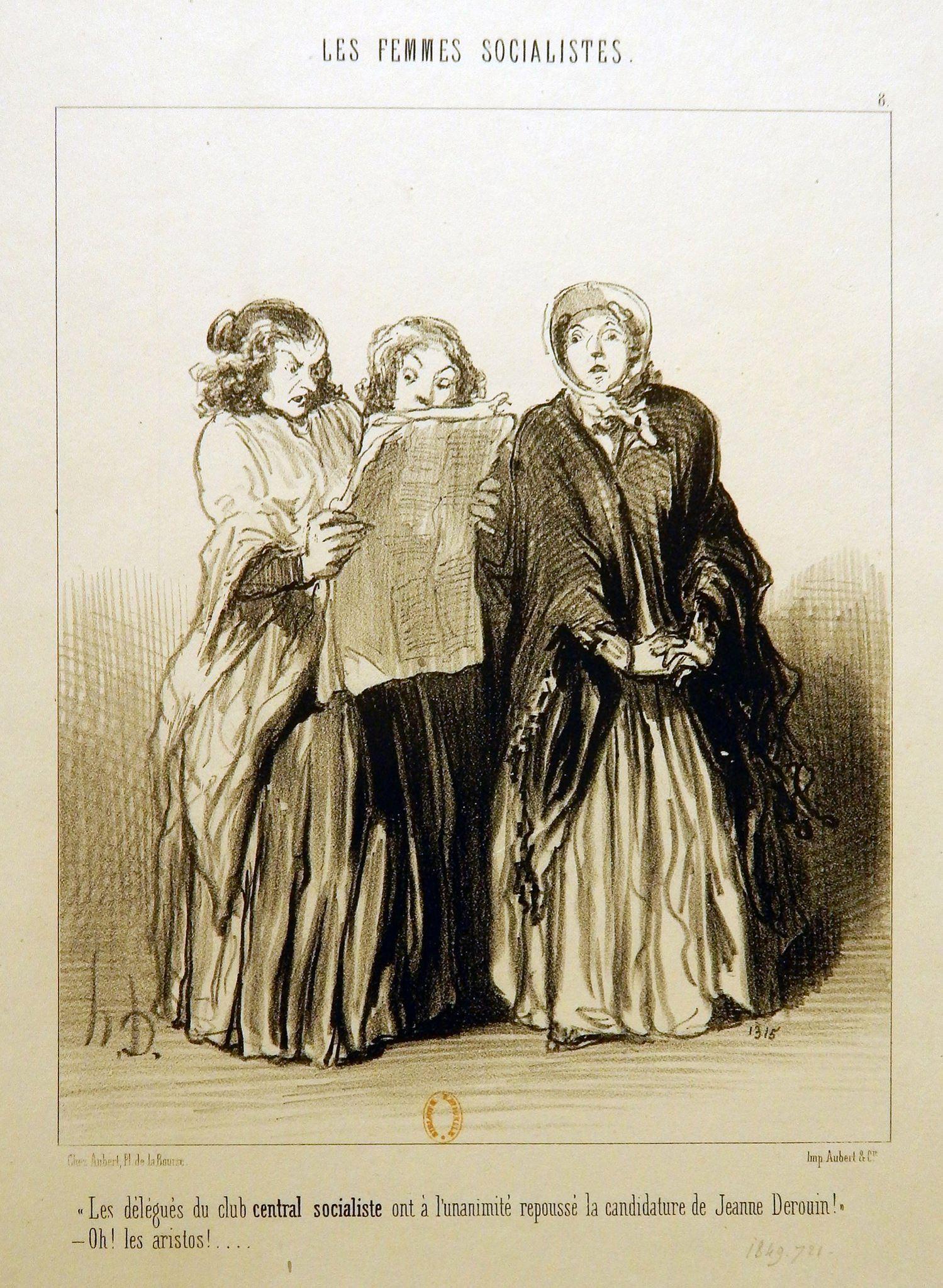 Honoré Daumier,  Les  Femmes socialistes (1849)
