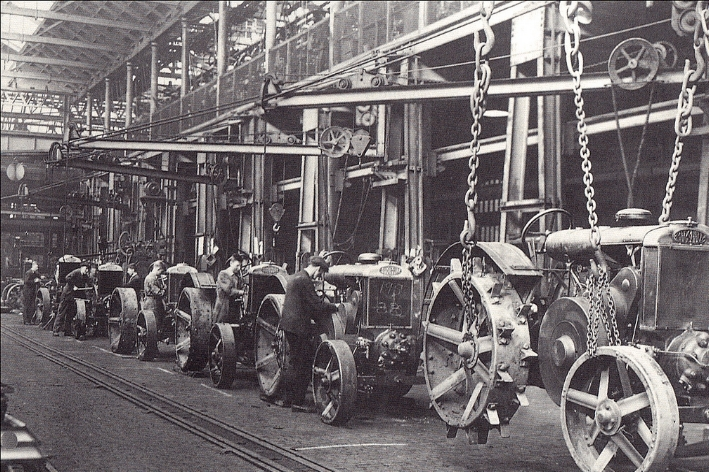 A tractor manufacturing plant, circa 1930s