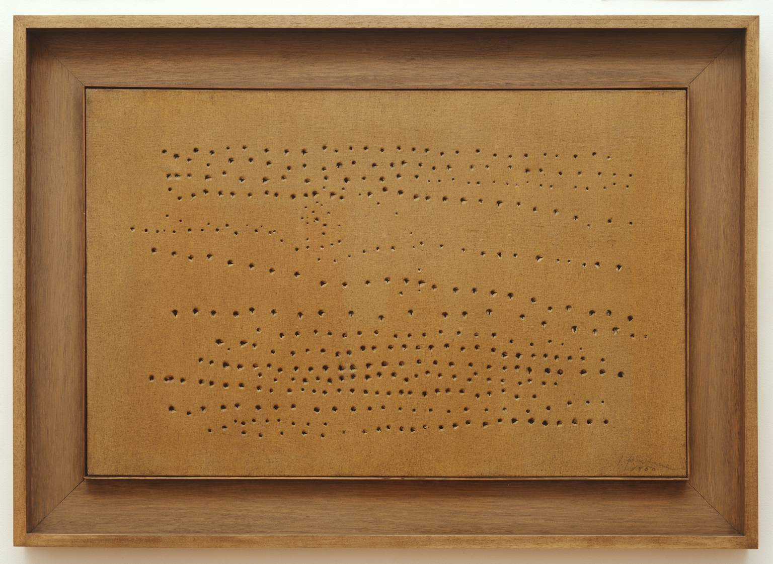 Lucio Fontana,  Spatial Concept (1949–50)