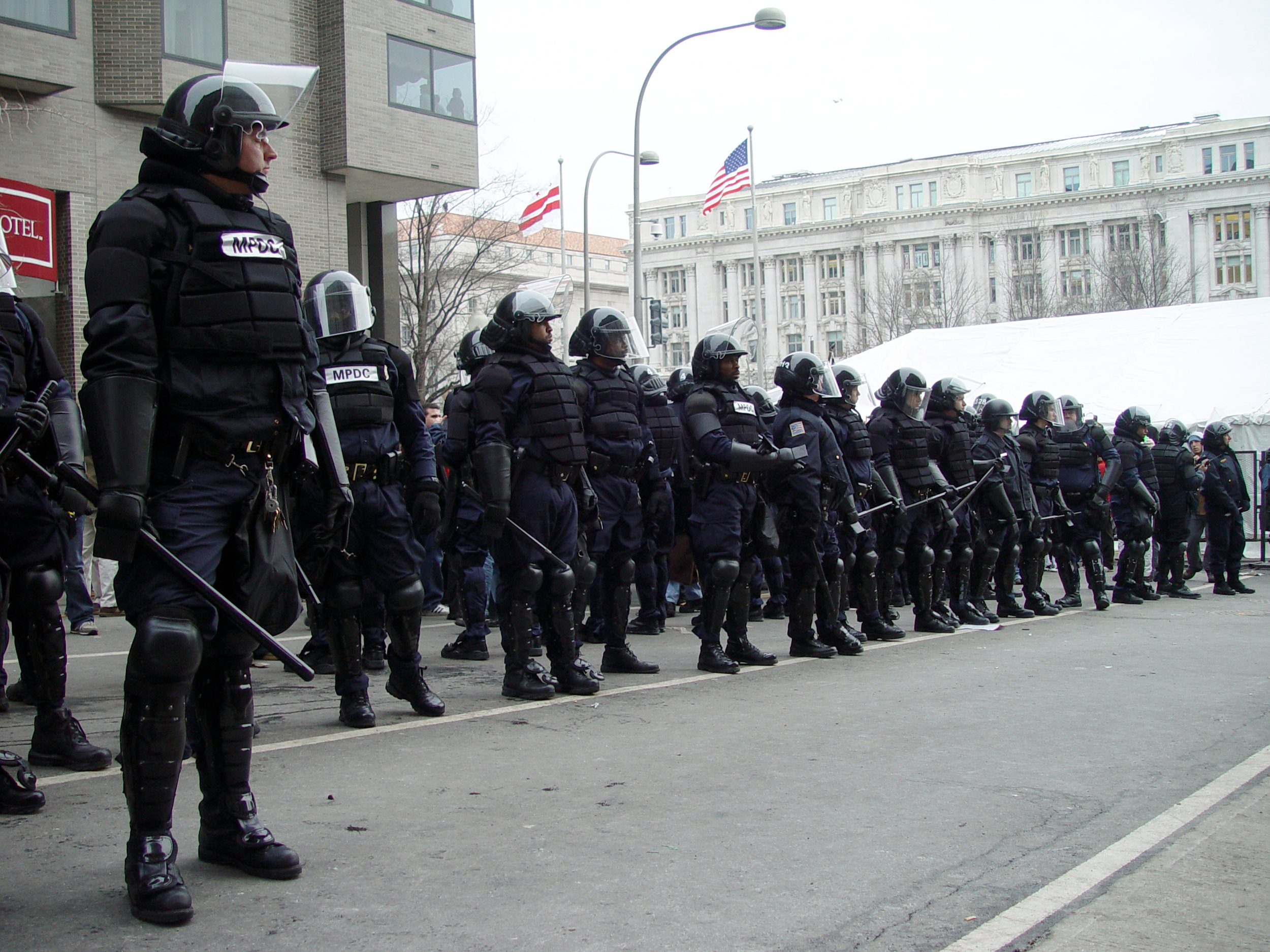 The riot squad is restless...