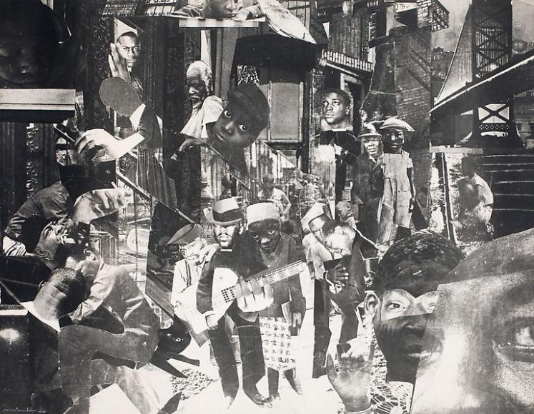 Romare Bearden, The Street , 1964.