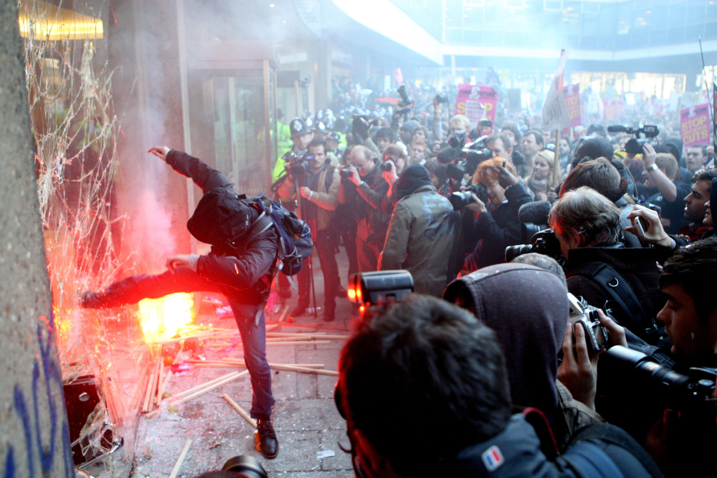 The London student rebellion, 2010.