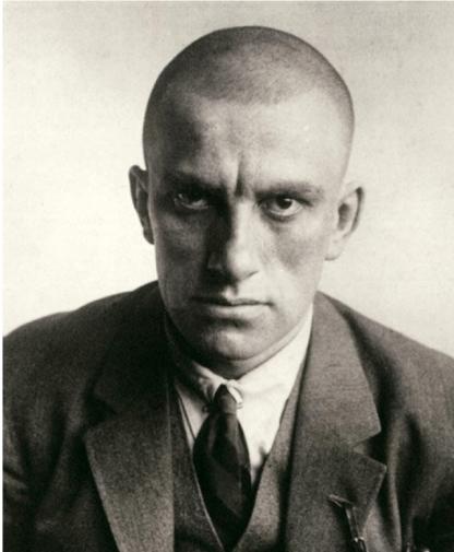 Vladimir Mayakovsky (photo by A. Rodchenko).