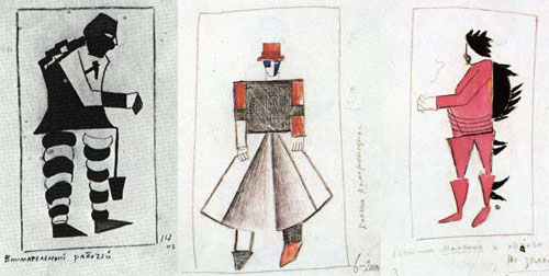Malevich's costumes for  Victory Over the Sun .