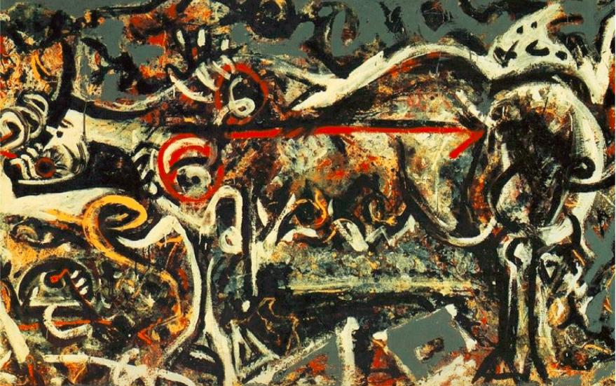 Jackson Pollock's  She-Wolf  (1943).