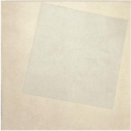 Malevich's  White On White  (1918).