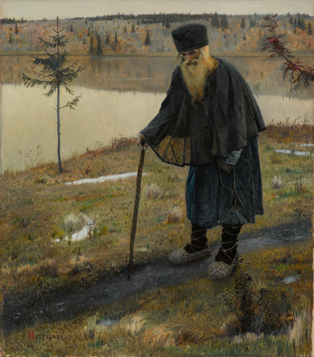 Mikhail Nesterov,  The Hermit  (1889)