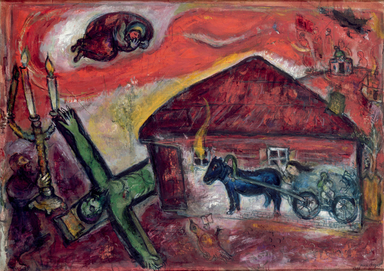 Marc Chagall's  Obsession , 1943.