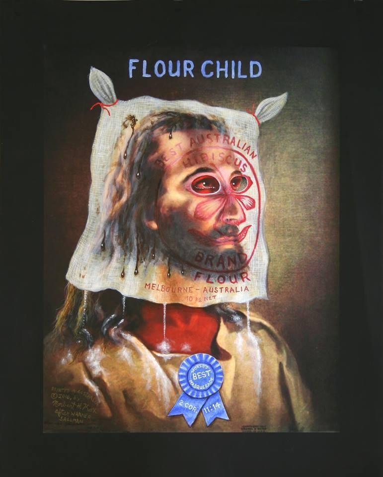 Norbert Cox,  Flour Child , acrylic on canvas (2016)