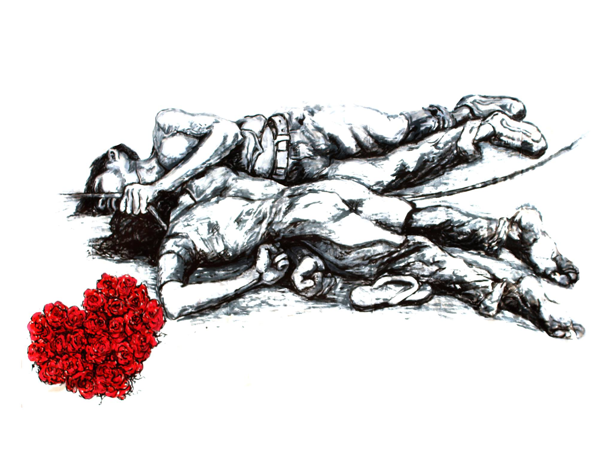 """For Love,"" acrylic on canvas."