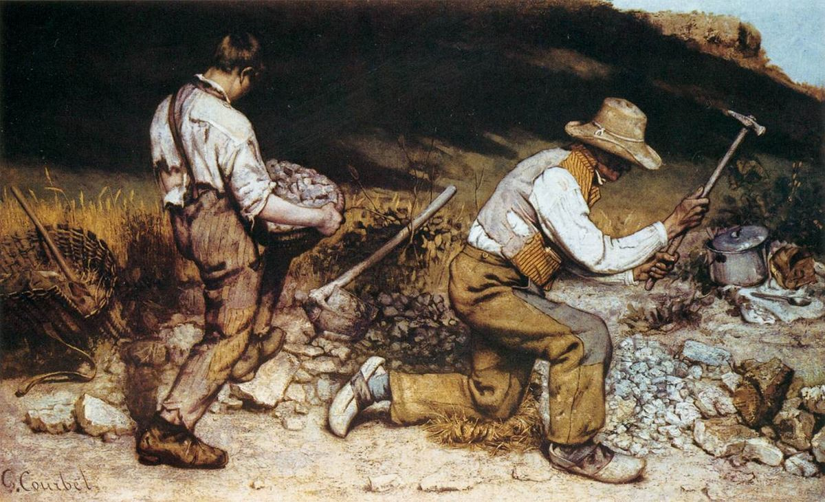 Gustave Courbet,  The Stone Breakers , 1849