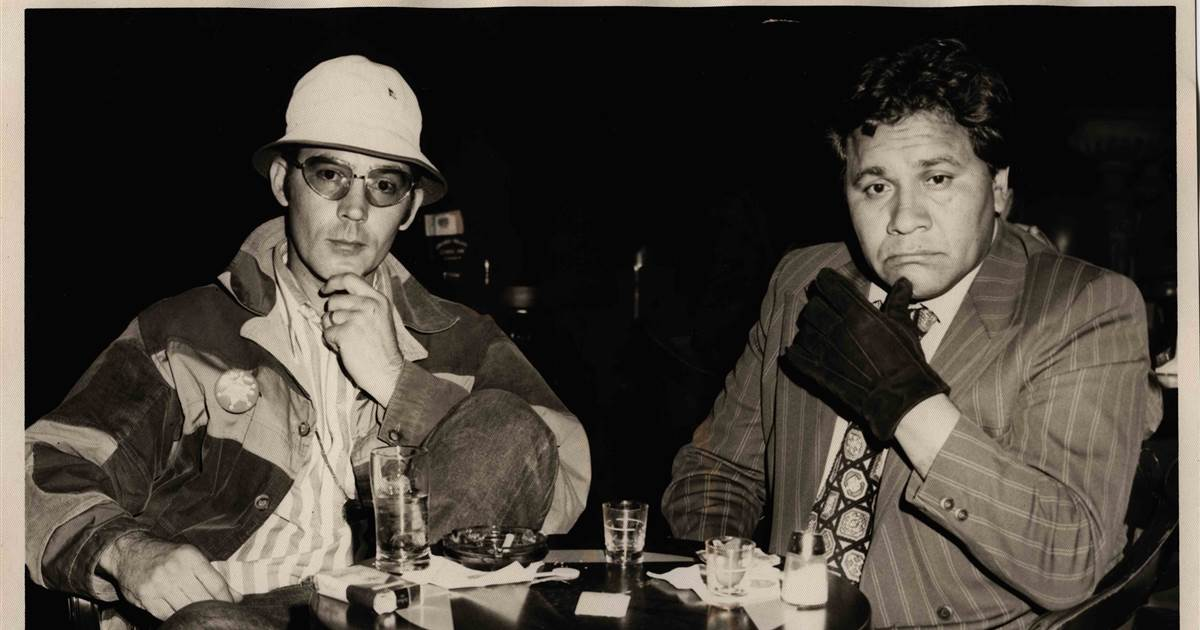 Hunter S. Thompson and Oscar Z. Acosta at Caesar's Palace Bar, 26 April 1971, 03:00 am.