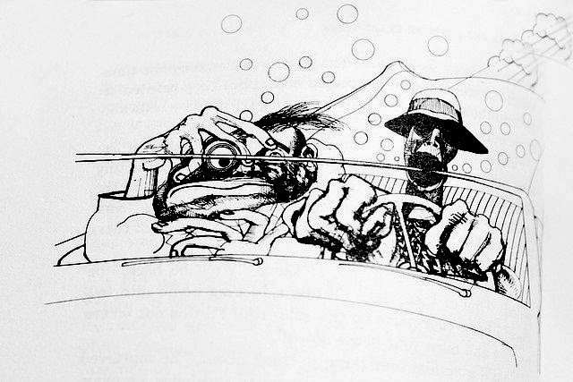 Ralph Steadman illustration for  Fear and Loathing in Las Vegas