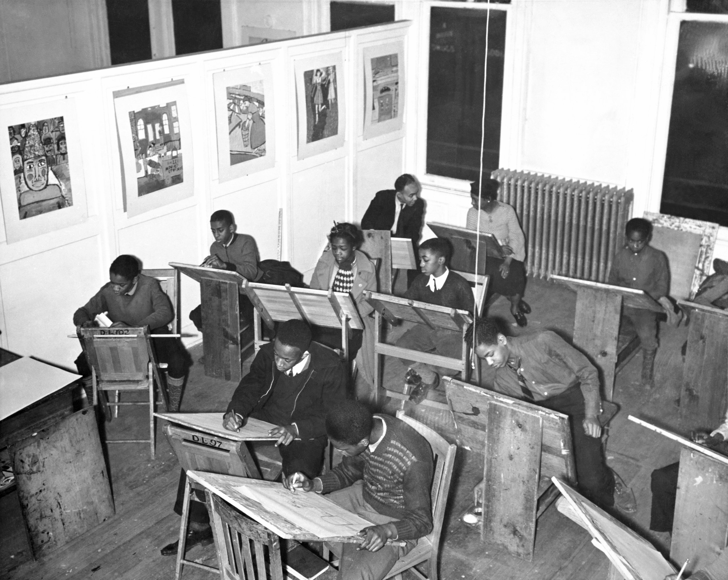 Class at the Harlem Community Art Center (January 1, 1938) (Wikipedia)