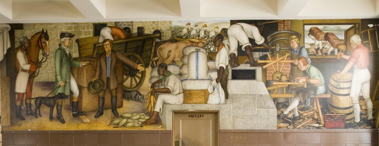Detail of Victor Arnautoff's  Life of Washington,  fresco/mural (~1936)