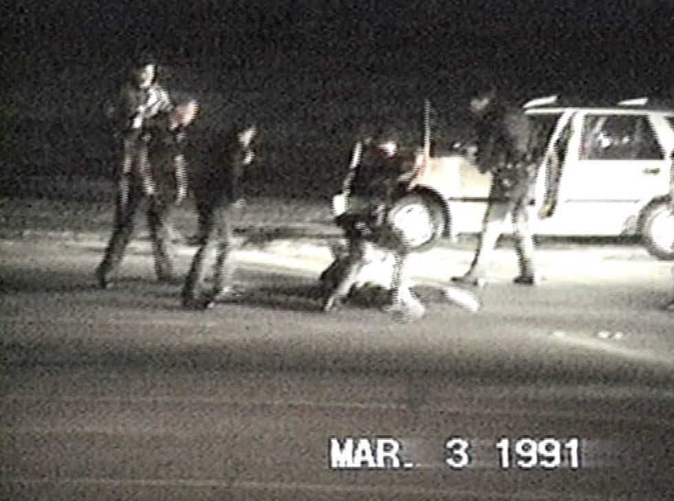 Still from the 1991 Rodney King video.