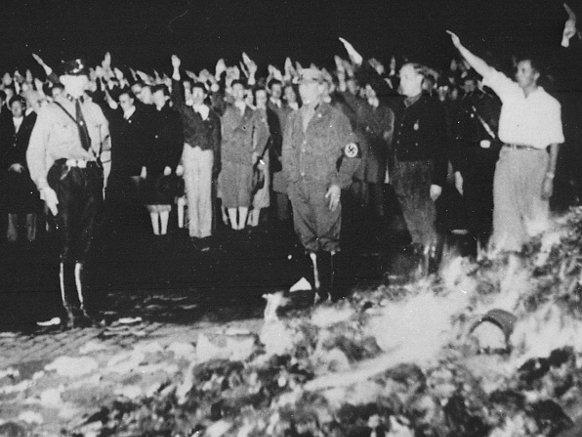 Nazi book burning in 1933