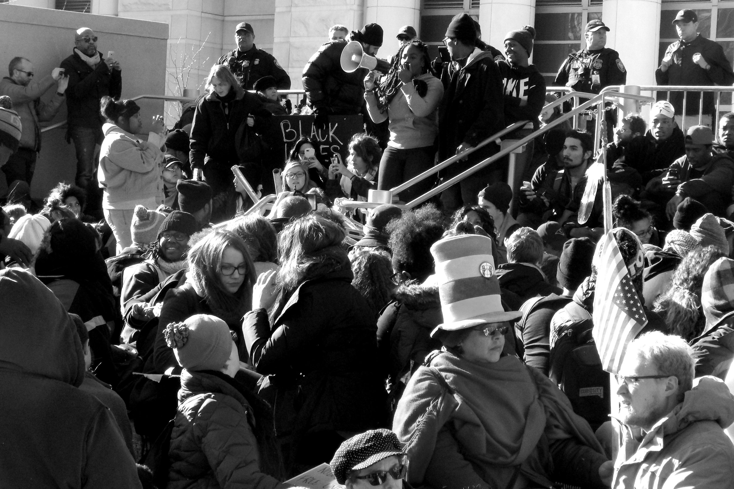 Black Lives Matter protest in solidarity with the Ferguson struggle in St. Louis (late 2014)