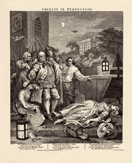William Hogarth,  The Four Stages of Cruelty #3 , engraving (1751)
