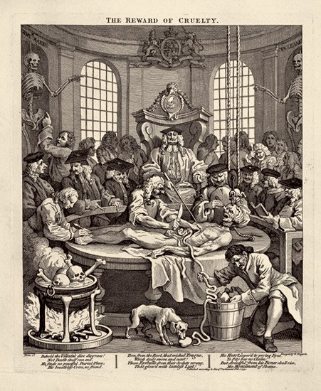 William Hogarth,  The Four Stages of Cruelty #4 , engraving (1751)