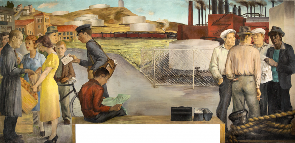 "Victor Arnautoff's  Richmond: Industrial City , mural/fresco (1941): ""This is not a painting."""