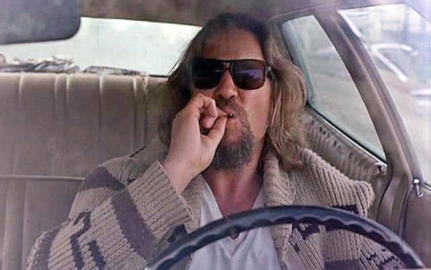 "Jeff Bridges as ""the Dude"" in The Big Lebowski. The dude was one of the authors of the ""original"" Port Huron statement. Still bitter at the Harringtonites for insisting on anti-communist language. But the Dude abides."