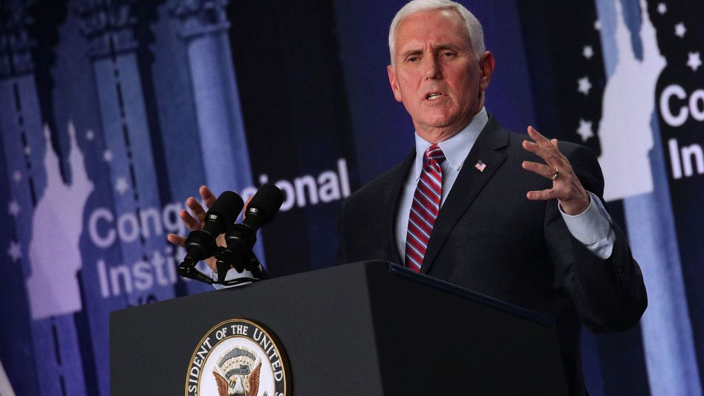 """""""The moment America becomes a socialist country is the moment America ceases to be America."""" says Pence."""