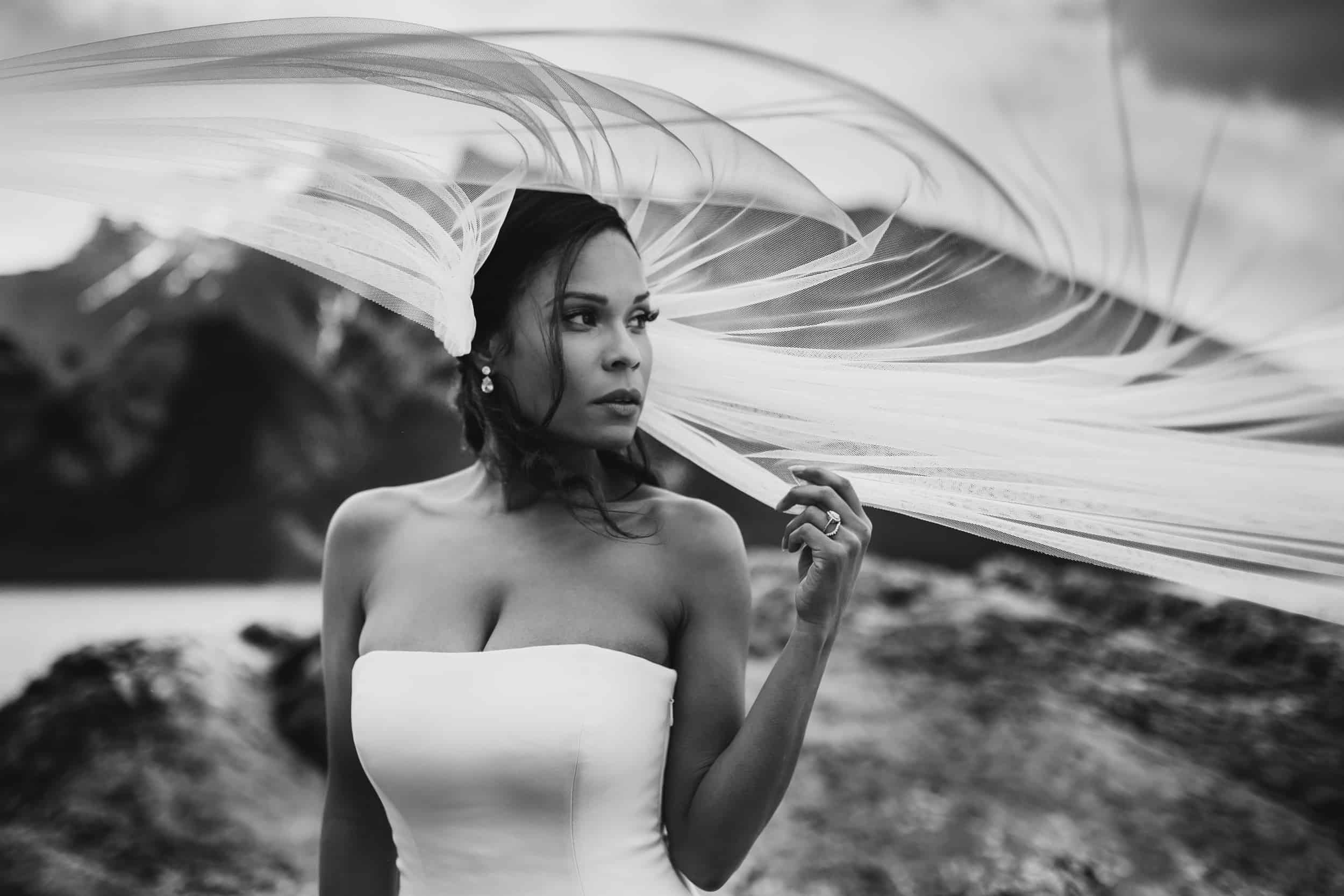 Beautiful Bride in Banff Alberta