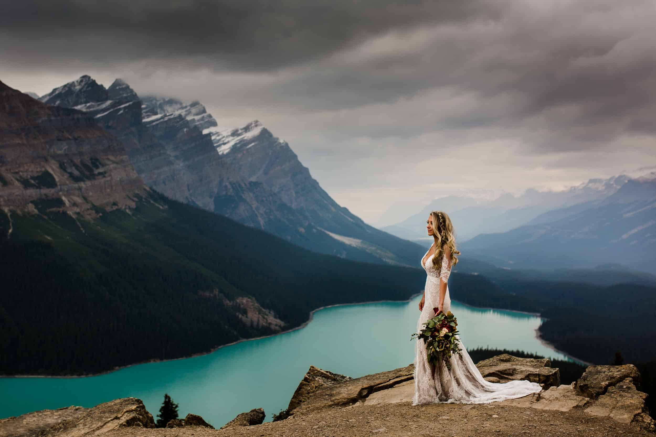 Peyto Lake Wedding Photography