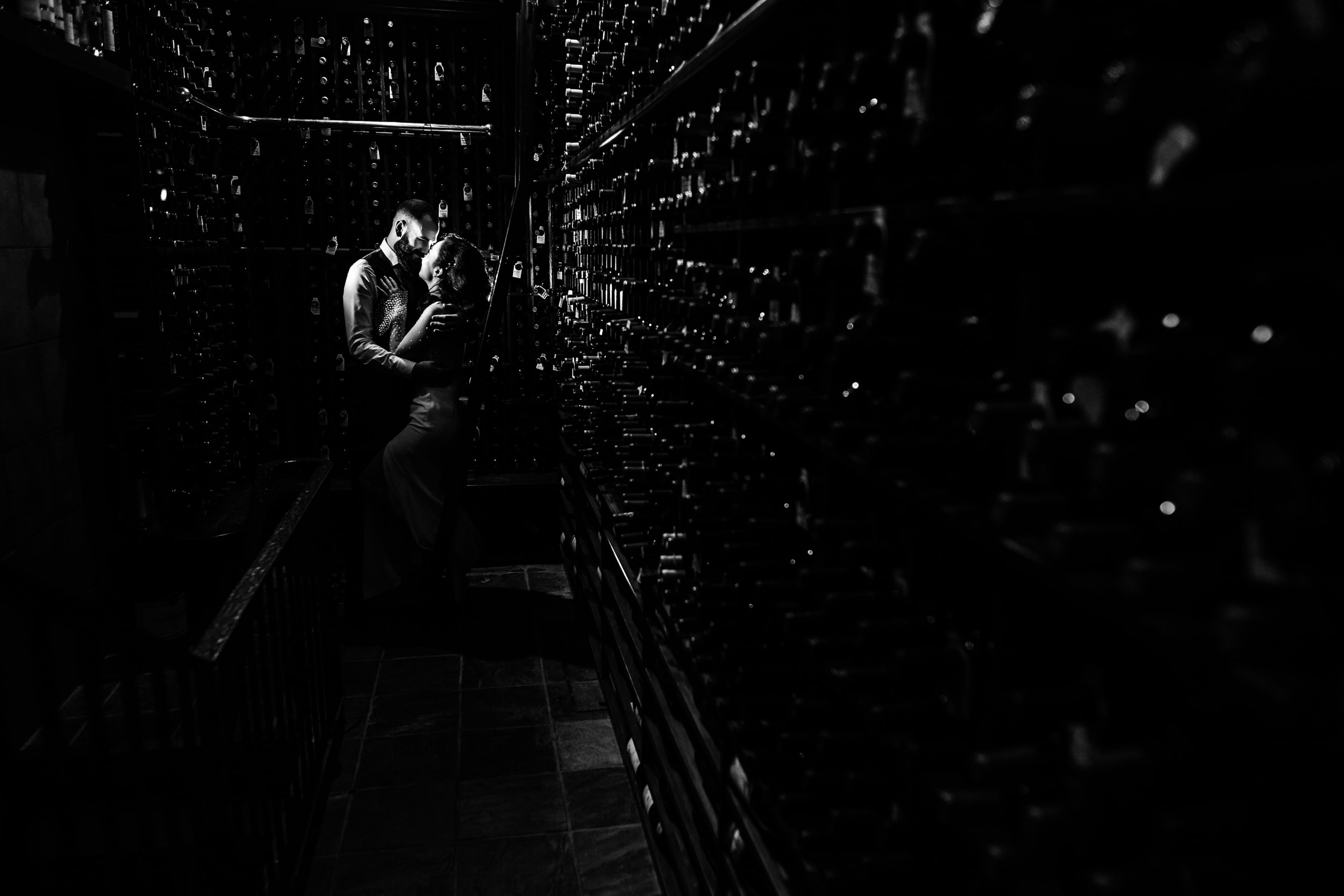 Post Hotel Wine Cellar Wedding Photography