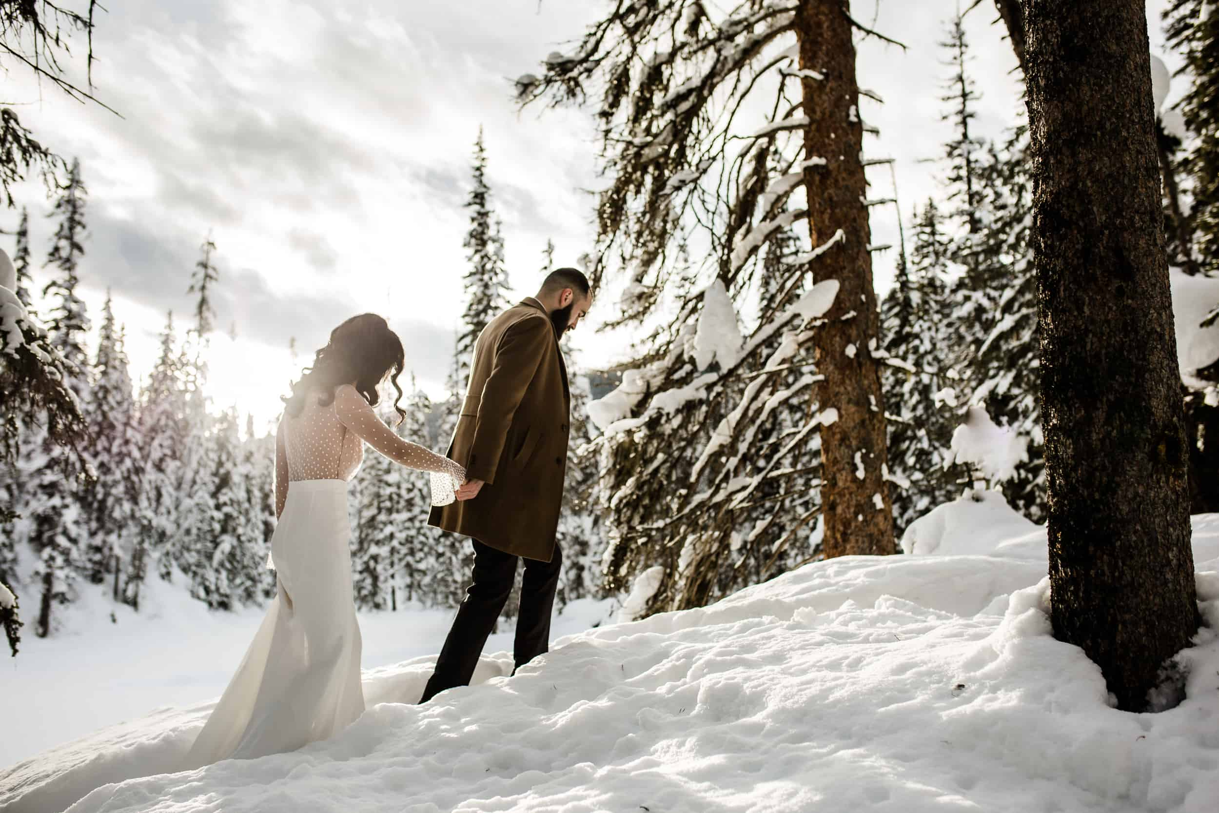 Winter Wedding Magic in the Forest