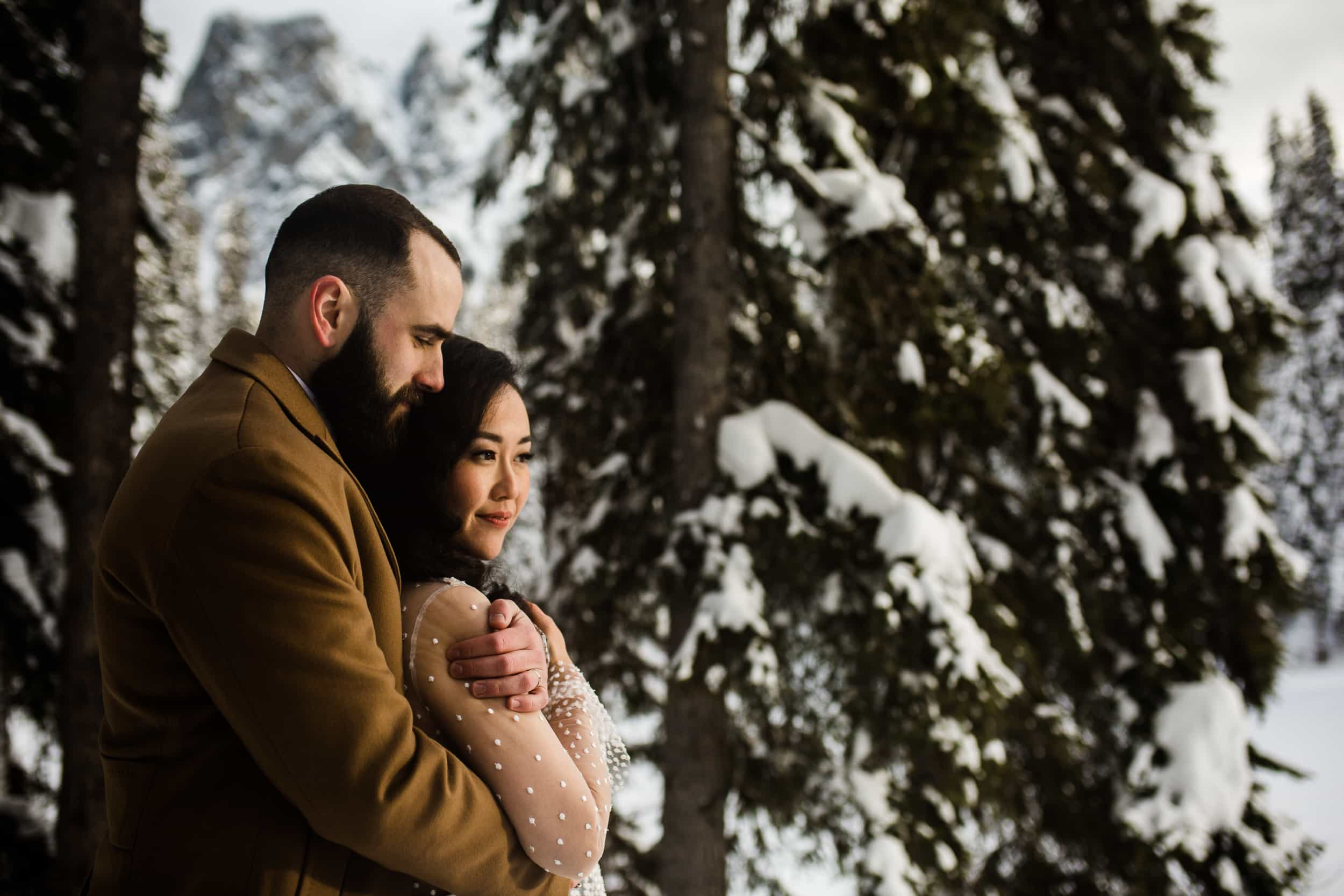 Emerald Lake Lodge Winter Wedding Photographer