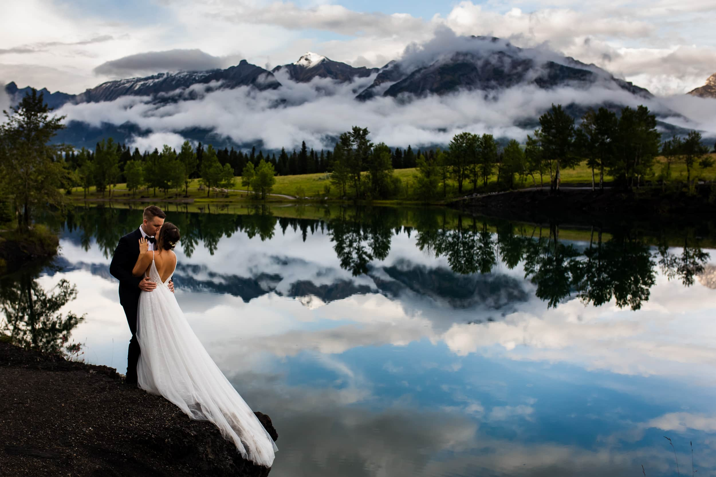 canmore-wedding-bride-groom-sunset-reflection-1.jpg