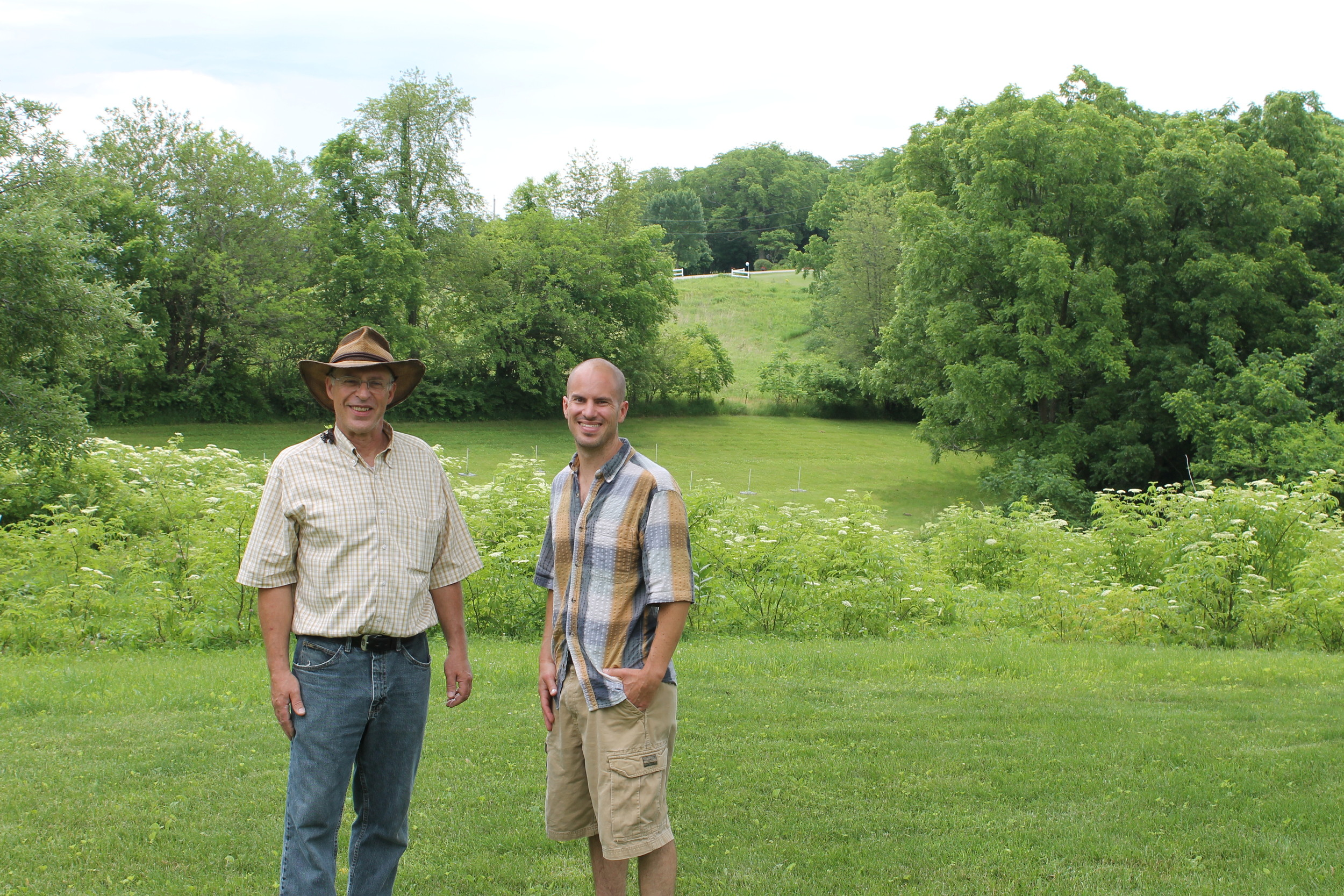Andy Luegger, luegger elderberry farms stands with wayne during our first visit, of hopefully many, to the farm.