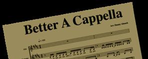 Accapella Arrangements Available — Cormac Bluestone