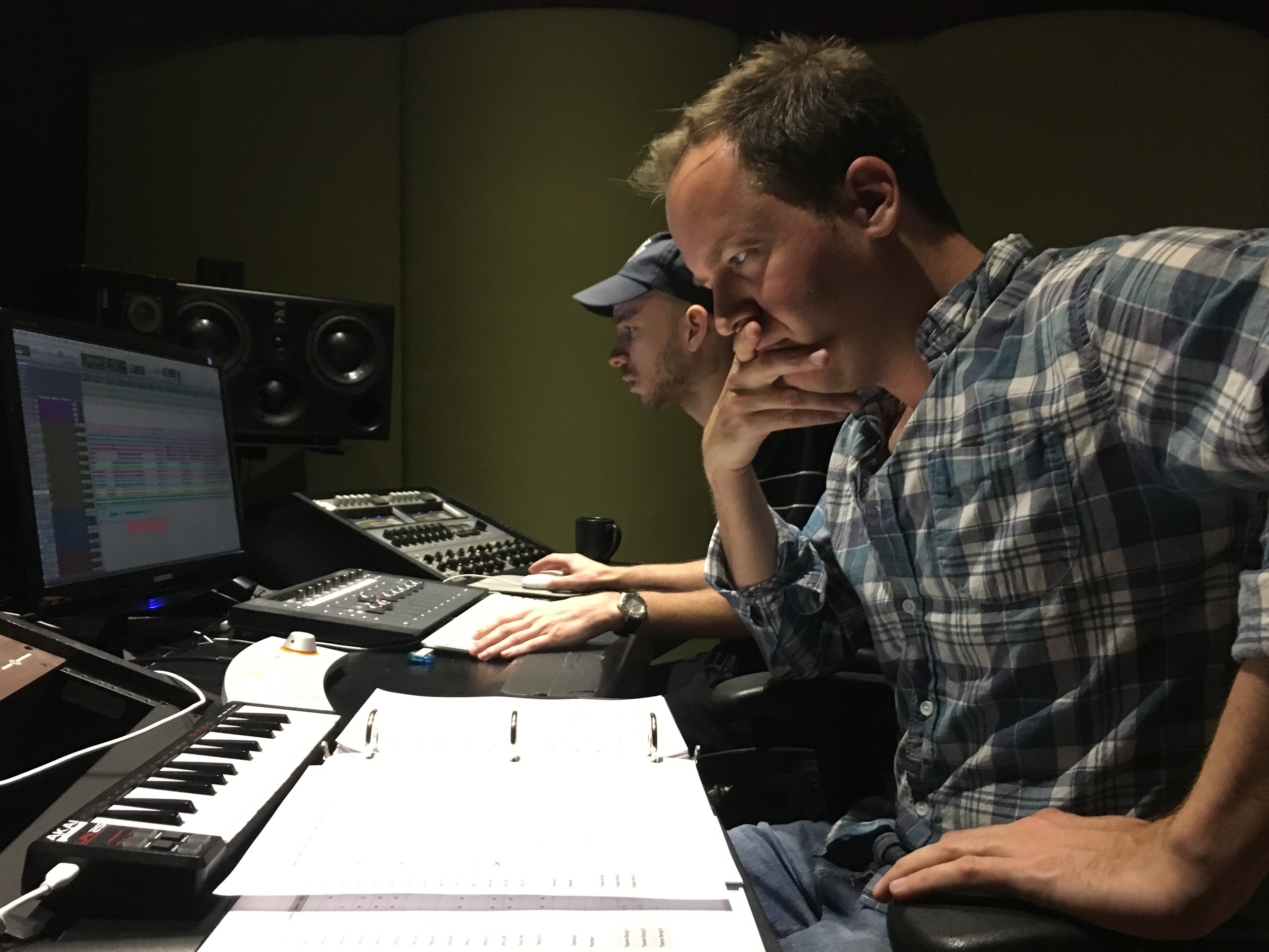 Cormac Bluestone and Andrew Schwartz, our recording studio engineer
