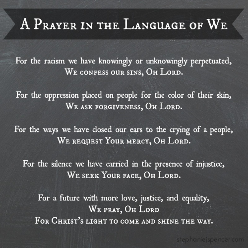 a prayer in the language of we