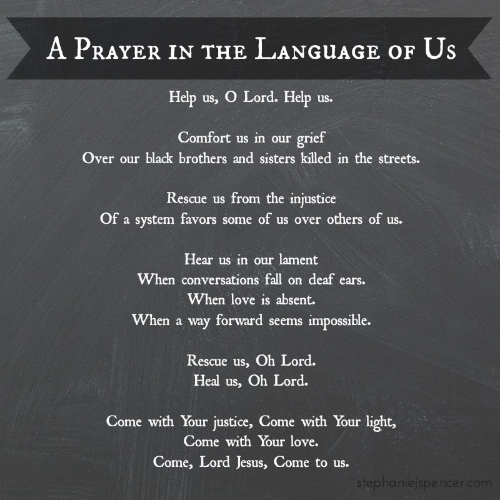 a prayer in the language of us