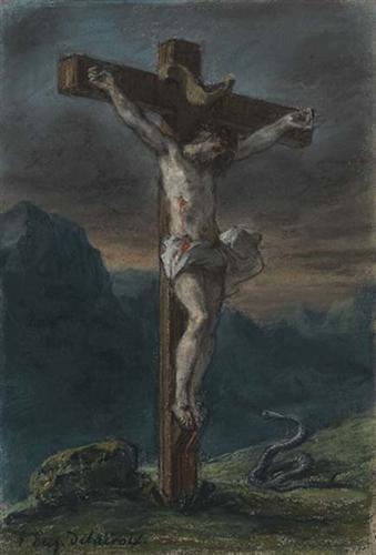 Christ on the Cross by Eugene Delacroix c. 1856