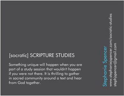 Socratic Scripture Studies