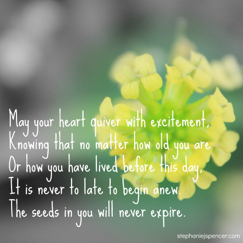 the seeds in you will never expire