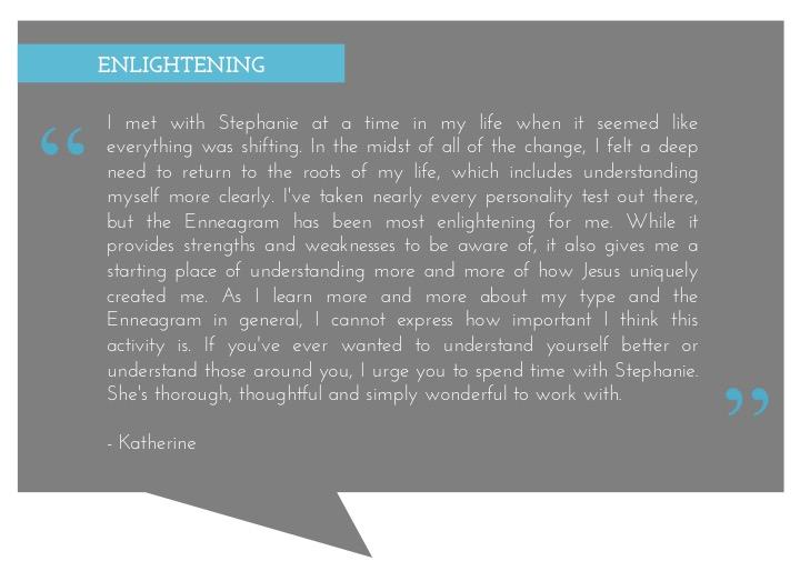 Katherine enneagram testimonial