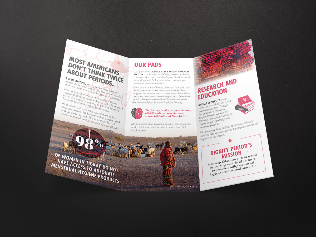trifold brochure design interior
